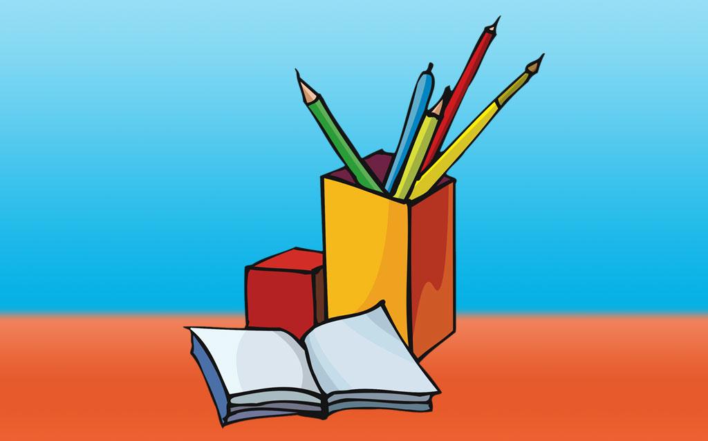 Desk with Open Book - Pencil Box