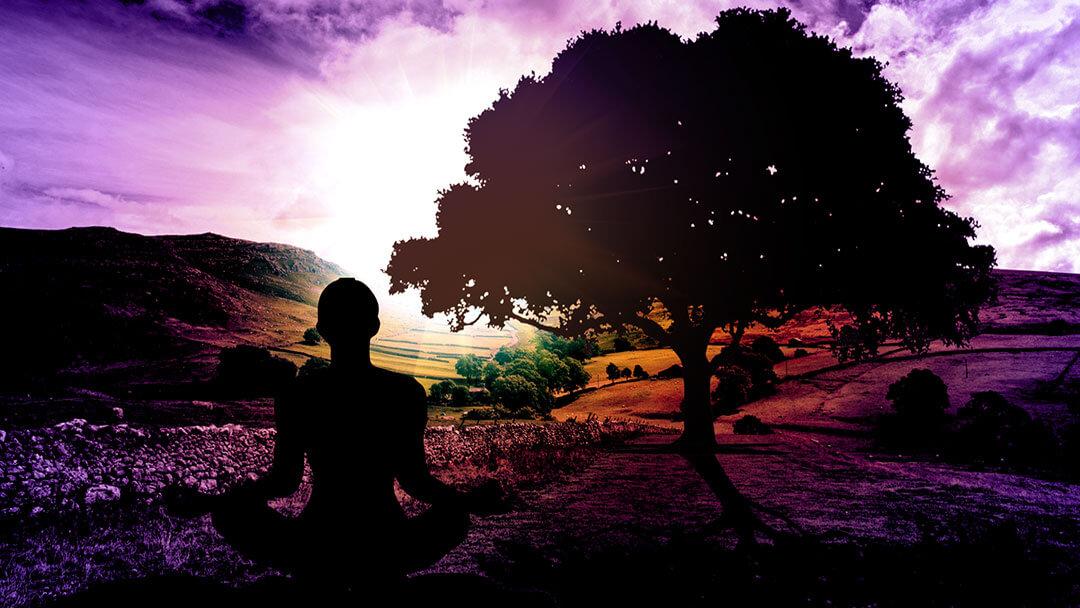 Yoga Pose Silhouette 1080